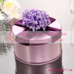 Wedding Wholesale Candy Tins Boxes With Flower and Ribbon