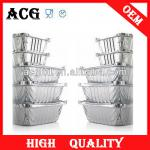 Various sizes Disposable aluminum foil tray