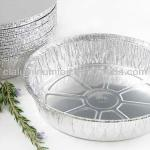 round aluminum foil container with lid