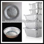 aluminium containers with lip for food packing