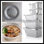 aluminium container with lip for food packing