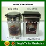 New design Coffee wholesale tin container with lids