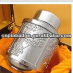 metal tea caddy