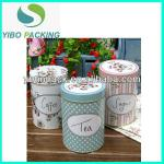 Personalized printing round tin box for tea, coffee packaging