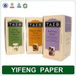 custom hot sale cardboard paper tea box