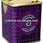 New custom metal sqaure tea tin box for storage