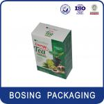tea and coffee capsules, tea satchel paper packaging box