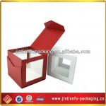 art paper tea box with PVC window