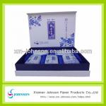 blue and white porcelain patterm printed tea box for gift