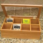 Wooden Box for Tea Pinted Wooden Tea Box Tea Bag Wooden Box