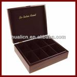 Wooden Tea Box with 8 Compartments