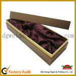 Matt lamilation Luxury Paper Wine Box With Gold Stamping