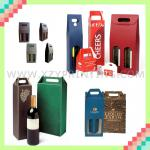 2014 hot various style corrugated board handmade wine box