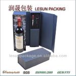 New style black 1 bottle cardboard wine box with wine accessories