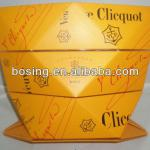 champage ice bucket, paper foldable ice bucket