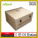 2 Layer wooden wine packaging box