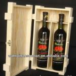 Wooden wine box for two bottle
