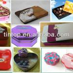 Tintop tin box for chocolate/tin case series only for you