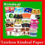 single paper fan/sheet for making paper cup