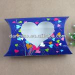Fashionable pillow box with heart window