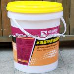 17.5L silk screen printed white PP plastic industrial paint packing buckets