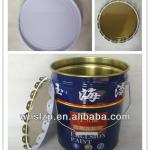 18L metal bucket for paint with lid