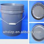 gray pail with handle for whosale