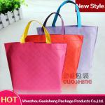 2014 latest promotional non woven embossed shopping bag