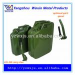5l/10l/20l army green metal jerry can/gas can