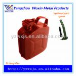5 Litre Red Steel Jerry Can with Red Flexible Pouring Spout