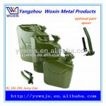 5L 10L 20L olive green steel can/jerry can with spout