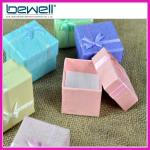 colorful bowknot rings ear stud jewelry packaging
