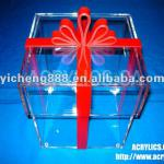 transparent acrylic gift box with lid