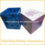 Decorative paper covered boxes