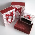 Paper packaging box set with handles (like shopping bag)
