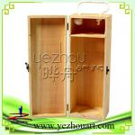 natural wholesale wooden wine boxes