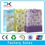 Transparent christmas plastic gift packing bag