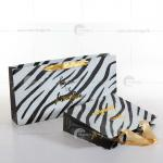 2014Trendy Paper Shopping Bag With Ribbon Handle