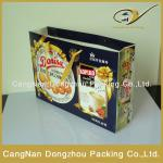 custom paper cookies bag wholesale/recycled paper bags with ribbon handle