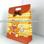 print die cut full color ivory board paper gift bags