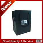 black laminated art paper bags with simple logo design/pp rope