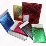 Matt finish colored metallic bubble mailers