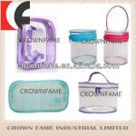 Transparent PVC packing bag with zipper handle