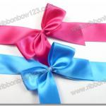satin gift ribbon bow pre-made bow,pre-tied ribbon bow