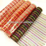 colorful pp plastic Flower Mesh wrapping for gift decoration