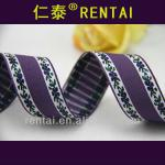1 inch Fashion accessory and fittings ribbed face lavender jacquard antique gift ribbon