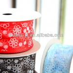 2014 New Arrinal Blue Flower Pattern Ribbon For Packaging