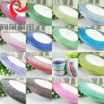 wedding decorative/christmas decoration/gift packing red/pink/blue/green....metallic ribbon