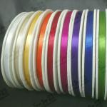 High quality 10mm slit edge polyester satin ribbon