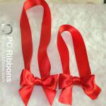 Elastic packing ribbon bow